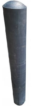 Round Recycled Solid Plastic Bollards